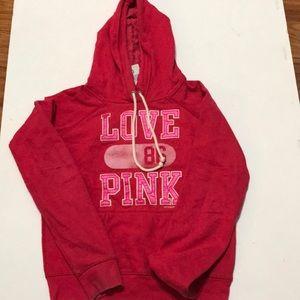 Tops - Victoria's Secret Love Pink Hoodie  Sweatshirt M